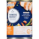 Farmers Market Pet Food Premium Natural Grain-Free Canned Wet Dog Food, 13.8 oz Can, Roast...
