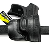 HOLSTERMART USA TAGUA Right Hand OWB Black Leather Yaqui Style Belt Slide Holster for Ruger LC9 LC9S LC380 EC9S