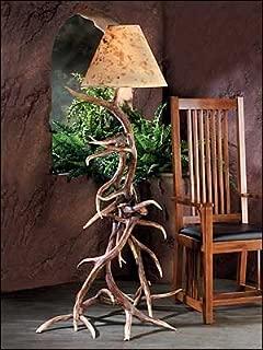 Hughes Collection HP-66591 35 x 60 in. Elk Antler Floor Lamp