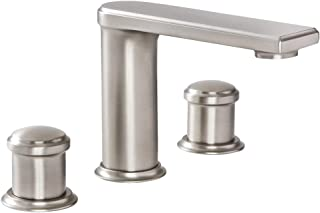 Hudson Reed Eclipse Widespread Bathroom Faucet In Brushed Nickel Finish