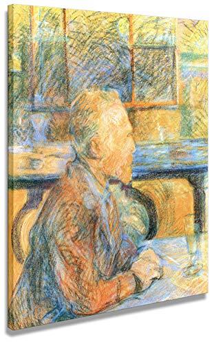 digitalpix Artenòr Gemälde Toulouse-Lautrec Porträt von Van Gogh 1887 Kunstdruck auf Leinwand gedruckt auf Leinwand, 48 x 58 cm