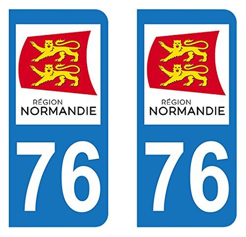 Adhesivo matrícula 76-nueva región de Normandía