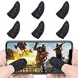 Kbnian Mobile Game Fingersatz Gamecontroller Fingerschutzhülle 6 Stück, Anti-Schweiß-Anti-Rutsch-Fingerabdruck-Touch echt, unterstützt alle Spiele auf Android- oder iOS-Handy, PUBG, Festungsnacht
