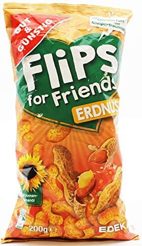 Gut und Günstig Flips for Friends Erdnuss, 10er Pack (10 x 200g)