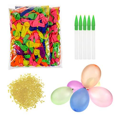 TOAOB Wasserballon Wasserbomben Einschließlich 1000 Luftballons 1000 Gummibänder und 5 Füllen Instrument für Party