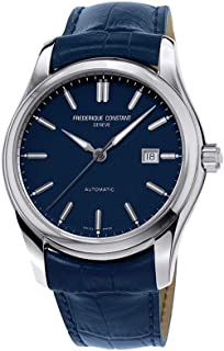 Frederique Constant Men's Classics 40mm Blue Leather Band Steel Case Automatic Analog Watch FC-303NN6B6
