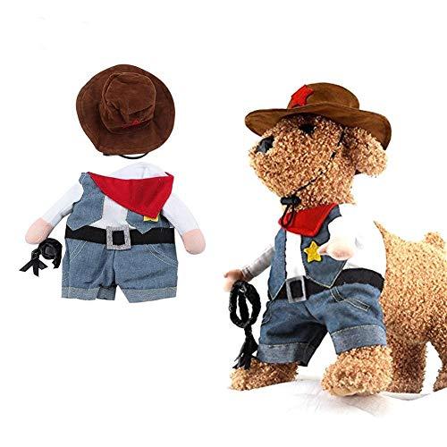 Tammy Yerkes, Vestito da Marinaio per Animali Domestici, Gatto, Cane, Cosplay, Cowboy, Costume Divertente con Cappello, Jeans, Cappotto per Halloween