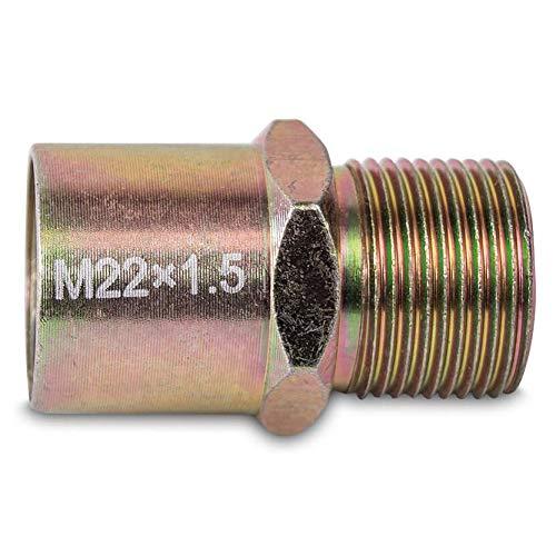 Adaptador de filtro de aceite tornillo M22 x 1,5 para placa sándwich compatible con Mocal, Racimex, Raid hp, D1 Specuvm