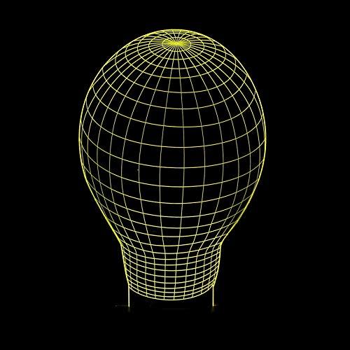 Eenvoudige moderne 3D-visuele LED acryl decoratieve wandlamp slaapkamer bedlampje volledig 7 kleurverandering raak touch bureau lamp tafellamp