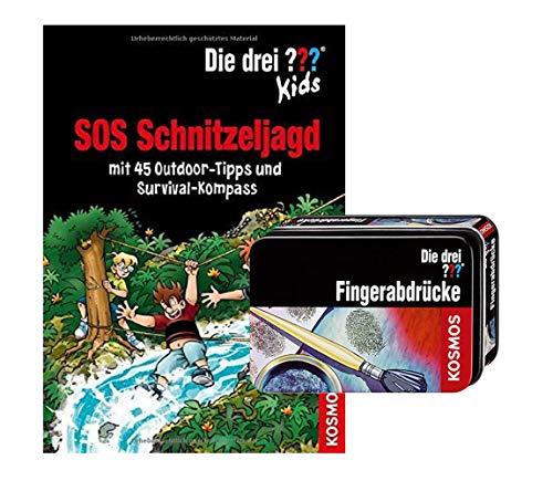 Die DREI ??? Kids - SOS Schnitzeljagd: mit 45 Outdoor-Tipps und Survival-Kompass + Forscherkästchen ab 8 Jahren