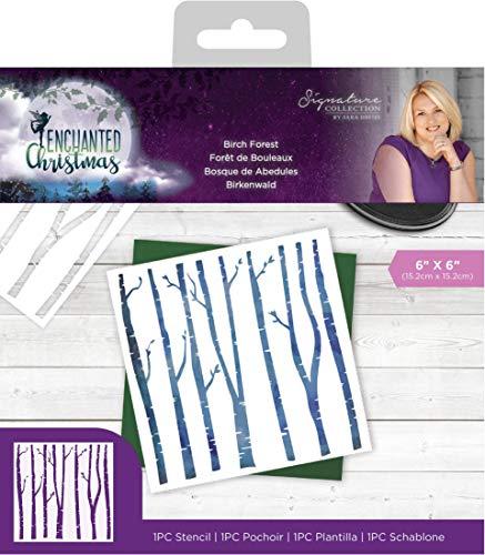 Crafter's Companion Sara handtekening sjabloon betoverd kerst-berk bos 6