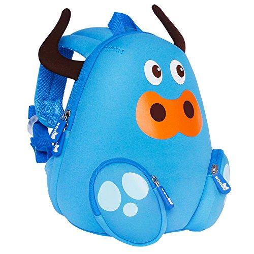 Kiddi Choice Nohoo Nh044 Neoprene Animal Blue Ox Little Backpack