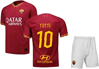 Totti #10 2019-2020 AS Roma Men's Home Soccer Jersey/Short Colour Red