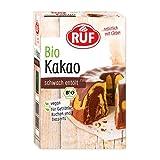 RUF Bio Kakao vegan & zuckerfrei, schwach entöltes Kakao-Pulver als Back-Kakao und Trink-Schokolade