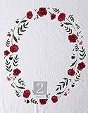 "Little Unicorn Keepsake Monthly Milestone Photo Blanket – 47"" x 46"" – Milestone Cards Included - 100% Cotton Muslin – Machine Washable – Playful Designs - for Boys & Girls (Summer Poppy)"