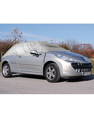 PEARL Autoabdeckung: Premium Auto-Halbgarage für Obere Mittelklasse Kombi 410 x 138 x 45 cm (Halbgarage Winter)