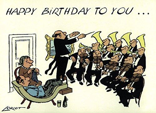 Postkarte A6 • 005 ''HB / Orchester'' von Inkognito • Künstler: Loriot • Geburtstag