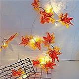 YLSMN Cadena led de hoja de arce bifurcada Acción de gracias Decoración navideña caja de batería cadena ligera luz nocturna