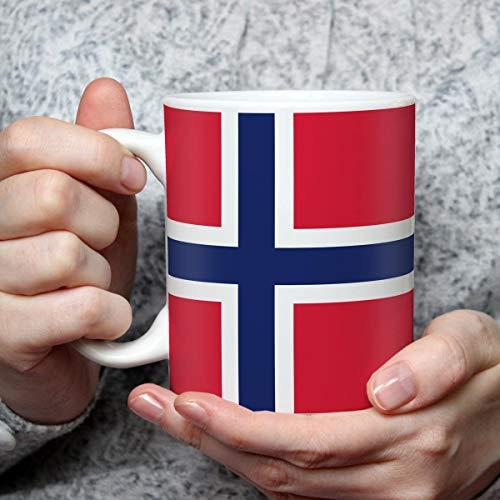 Geschenk Tasse mit Flagge Norwegen Länder Flaggen Geburtstagsgeschenk Souvenir Norge Skandinavien für Reiseliebhaber Frauen Männer