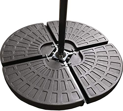 Classic Garden Shop® SET OF FOUR WEIGHTS - PARASOL BASE STAND WEIGHTS FOR BANANA HANGING AND CANTILEVER UMBRELLA...