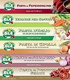 GIA pacco da 6 tubetti misti (Pasta di Peperoncino, Verdure per Soffritto, Pasta d'Aglio, ...