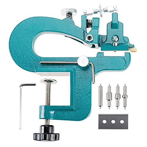LuckyHigh Leather Skiver Leather Splitter Manual Leather Paring Machine Leather Edge Skiving Machine with Extra Blades