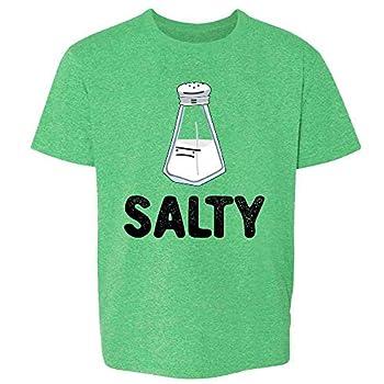 Salty Salt Shaker Funny Cute Halloween Costume Heather Irish Green 3T Toddler Kids Girl Boy T-Shirt
