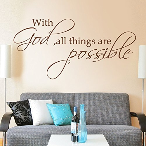 Vinylwand-Beschriftungs-Zitate und Spr¨¹che Home Art Decor - With God All Things Are Possible (custom, x-large)