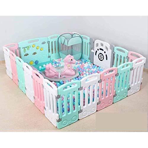Parc à bébé, Jouer Fence for enfants bébé Ramper Tapis enfant Garde-corps de sécurité Clôture bébé Maison Aire de jeux intérieure Toy (Color : Twenty-first(pink))