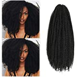 Marley Hair 24 Inch Marley Twist Hair Afro Twist Marley Braiding Hair for Butterfly Locks Crochet Hair 3 Packs Synthetic Hair Extension (24 Inch (Pack of 3), 1B)