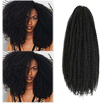 Marley Hair 24 Inch Marley Twist Hair Afro Twist Marley Braiding Hair for Faux Locs Crochet Hair 3 Packs Synthetic Hair Extensions  24 Inch  Pack of 3  1B