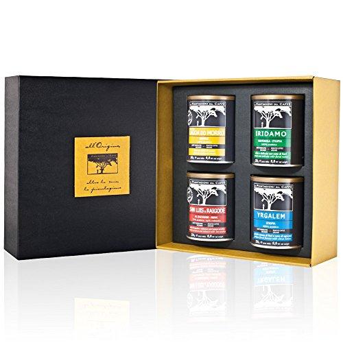 Caja de regalo - Especialidad de café de raíces molidas (4 x 250gr)