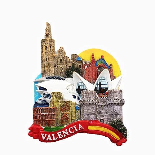 tianluo Imanes de Nevera Imán De Nevera Valencia España Souvenir Building Art Crafts Resion Stereo Gift Kitchen Decoración del Hogar Magnetic Sticker Paste Paste