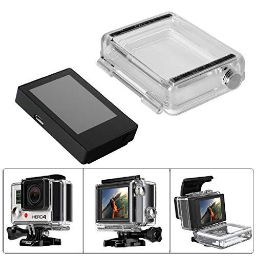 fantaseal Non-Touch 3in1 HD BacPac Erweiterungs LCD Bildschirm + wasserdichtes Gehäuse Backdoor Ersatz Kit Externer Monitor Display Viewer Kompatibel für GoPro Hero 4 3+ Schwarz Silber Weiß