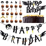 Wizard Inspired Cupcake Toppers BETOY 17PCS Harry Potter Inspired Cupcake Toppers cumpleaños Decorac...