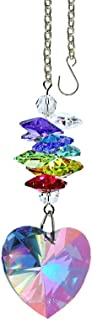 Crystal Suncatcher 3 inch Crystal Ornament Aurora Borealis Faceted Heart Prism Colorful Cascade Prisms Rainbow Maker Made ...