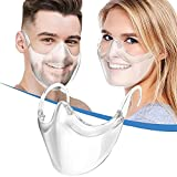 Transparent_Face_Mask, Clear Combine Plastic Reusable Clear Face Bandanas, Upgraded Breathable, Visible Expression, for Adults (No Fogging 1 pcs)