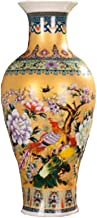 DPWH Ceramic jewelry/enamel Golden ceramic vases and birds (Color : Large, Edition : A)