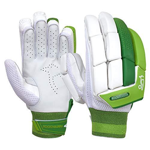 KOOKABURRA Jungen 2020 Kahuna 4.1 Batting Gloves Schlaghandschuhe, weiß/grün, Junior Right Hand