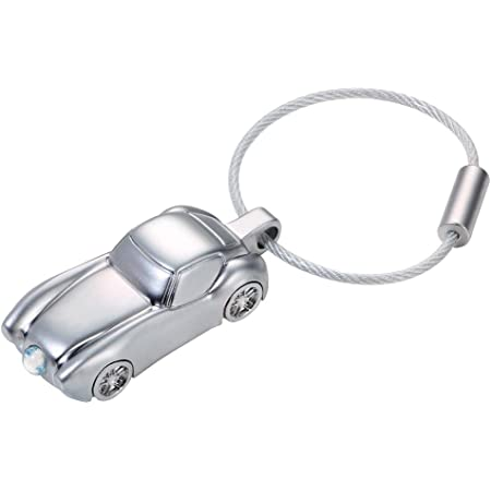 Troika Schlüsselanhänger Light Sportscar Kr15 41 Ch Anhänger In Form Eines Sportwagens Mit Led Licht Weiß Glänzend Silber Das Original Von Troika Koffer Rucksäcke Taschen