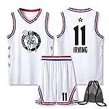 Kyrie Irving Boston Celtics Baloncesto Jerseys Set # 11, Bolsa de Baloncesto con Personalizado Tela Transpirable Jóvenes sin Mangas del Chaleco de los Hombres de los XXS
