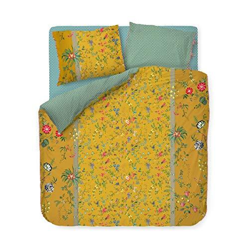 Pip Bettwäsche-Garnitur Petites Fleurs Farbe Gelb Yellow Größe 155x220+80x80cm