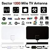 Awhao 1200 Miles 4K Amplified Digital TV Antenna Mini HD Indoor Digital HDTV