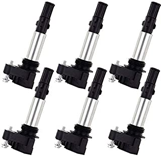OCPTY Set of 6 Ignition Coils Compatible OE: UF375 C1508 IC505 fit for Chev-y/Buick/Cadillac 2004-2009