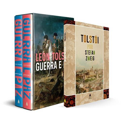 Kit Box Guerra e Paz + Tolstói