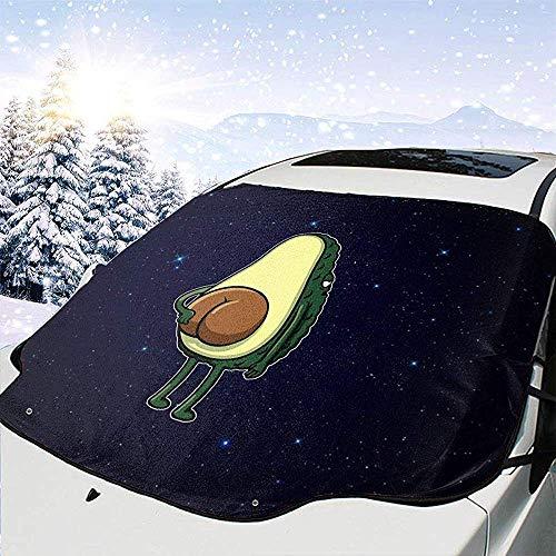 Protector de nieve para parabrisas de coche Star Avocado Butt Bone Frost Guard Protector, cubierta de hielo, parasol de coche Protector de parabrisas impermeable para coche / camión / SUV 147x118cm