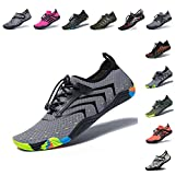 FEIFAN Mens Water Shoes Beach Swim Barefoot Adult Aqua Shoes for...