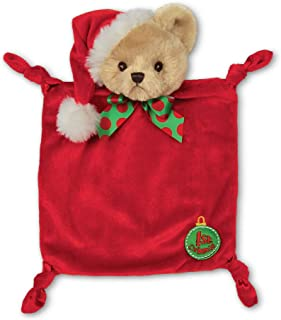 Bearington Baby's 1st Christmas Wee, Small Holiday Stuffed Animal Lovey Security Blanket, 8