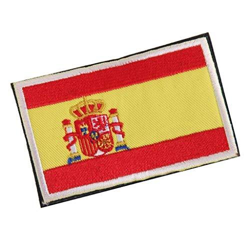 Deanyi Placa Frontera de la Bandera Nacional de España Hecho a Mano de la Bandera Insignia Bordada España Parche de Costura española