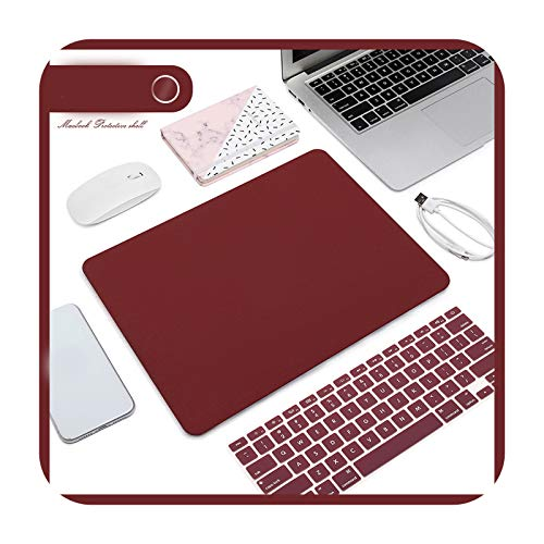 Matte Frosted Laptop Case + Laptop Keyboard Film for MacBook Air 13 2020 Retina Pro 13 15 A2159 MacBook Pro 16 A2141-K-15.4 Pro A1707 A1990